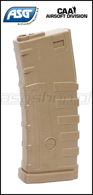 Mid-cap ASG magazine for M4/M16 - 140 rds / Dark Earth