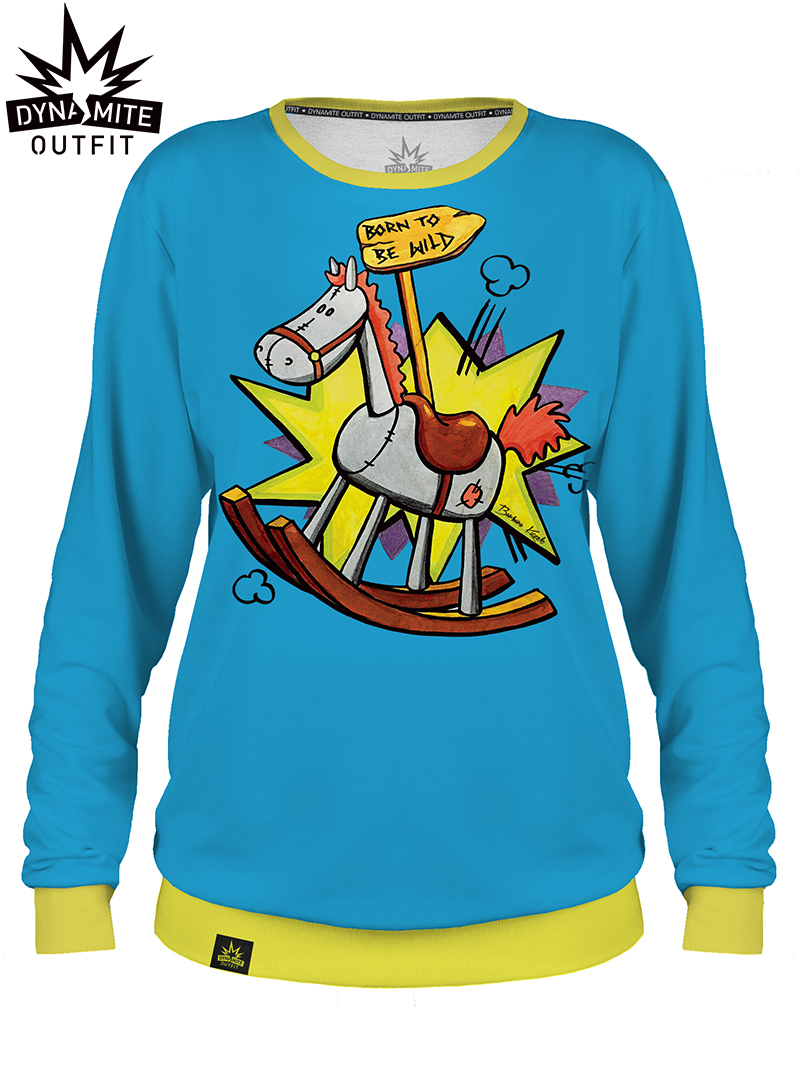 Women sweater Born To Be Wild Blue