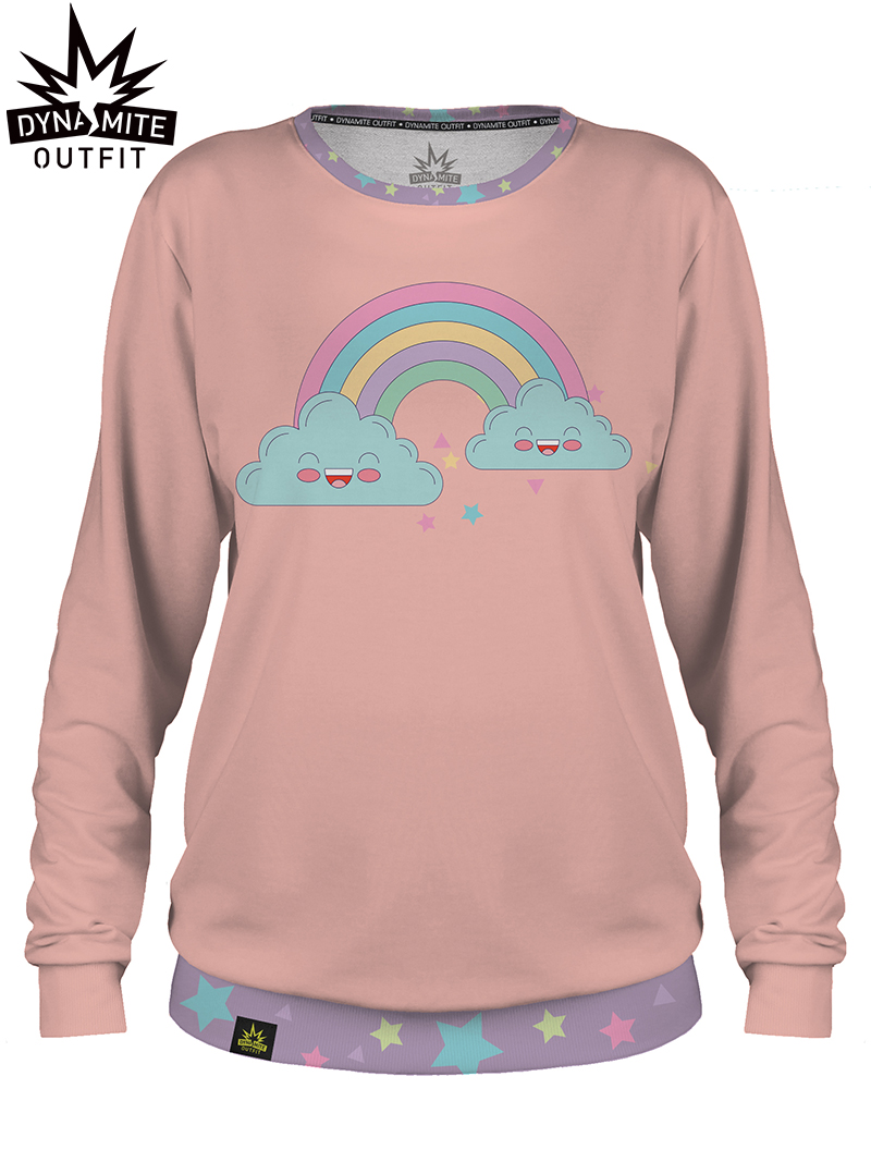 Women sweater Rainbow Pink