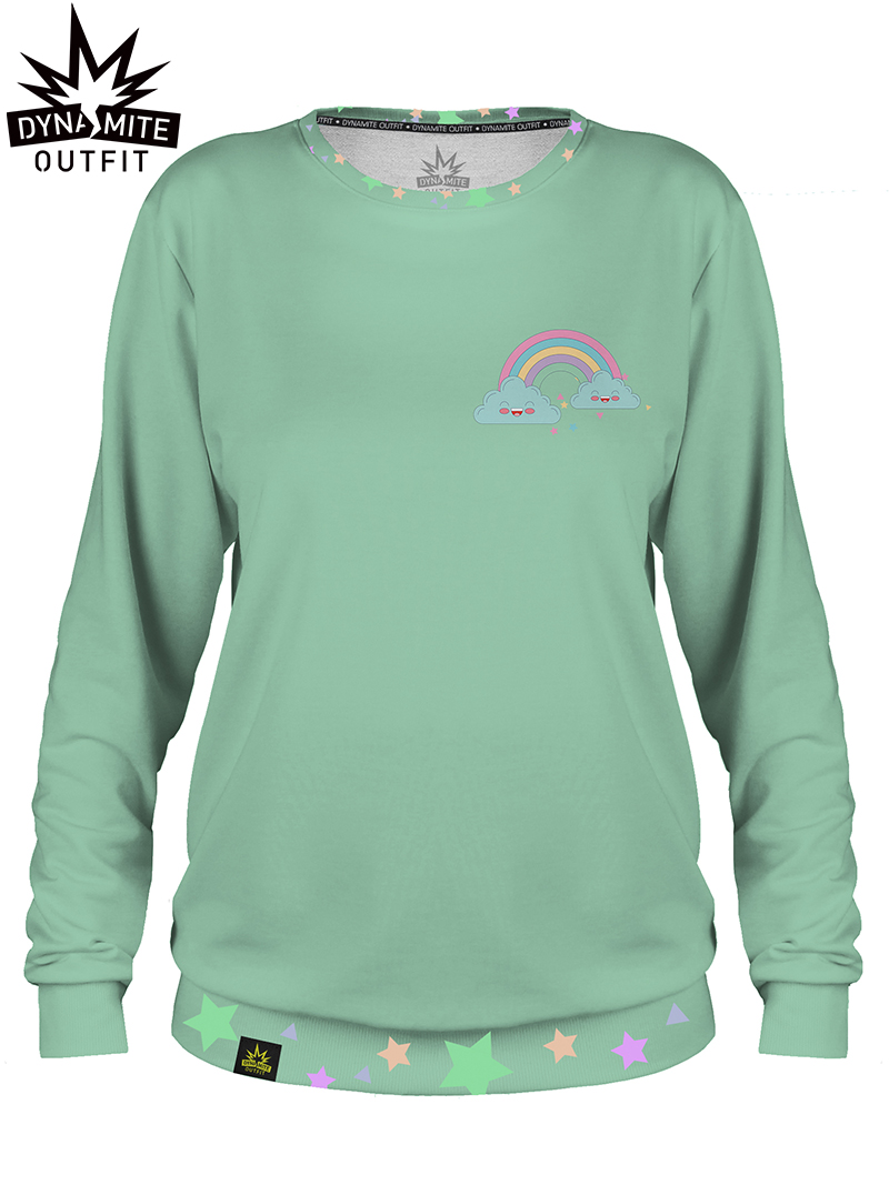 Women sweater Mini Rainbow Green
