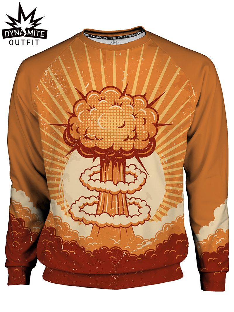 Men's sweater Nuclear Explosion