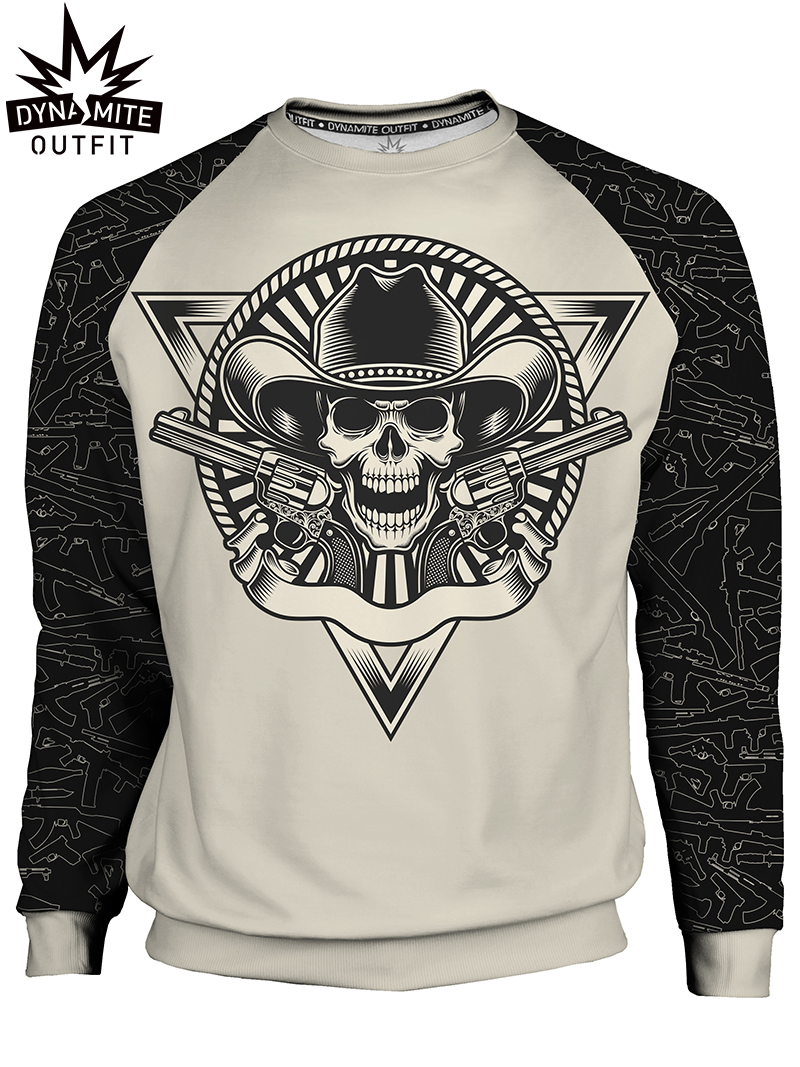 Men's sweater Skull Revolver