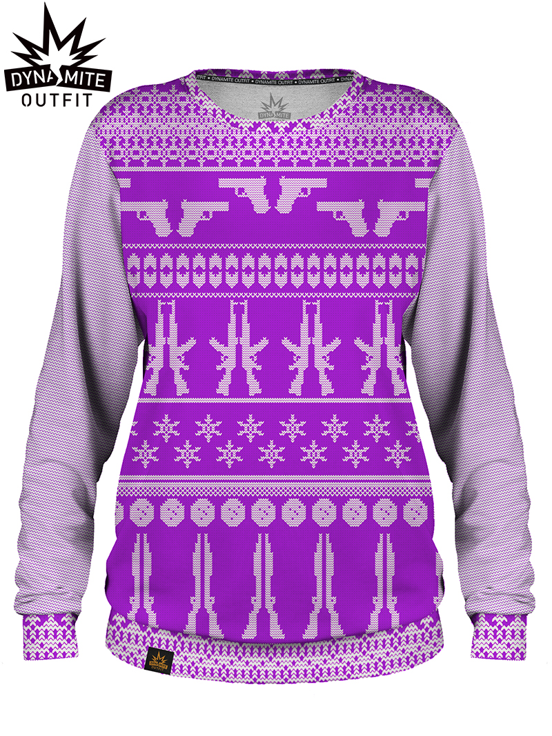 Women sweater Christmas Violet