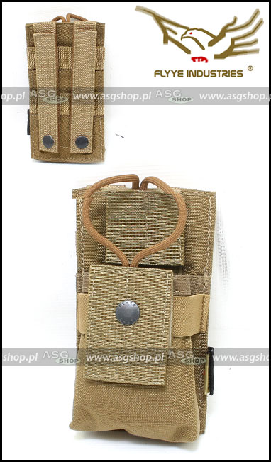 MOLLE Short Radio Pounch Coyote Brown