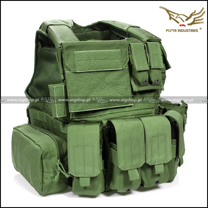 Flyye Force Recon Vest with Pouch Set Ver.Land Olive Drab