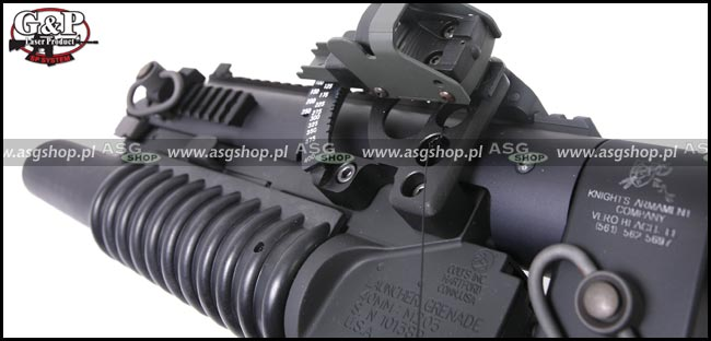 ASG Military Type Standalone Grenade Launcher with 6 Position Stock Full Set