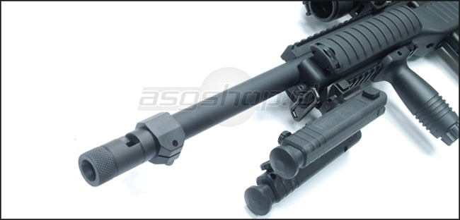 Stalowy tłumik do replik ASG KJ KC-02  (TYPE A)