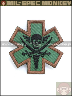 Oryginal Mil-Spec Monkey Morale Patch - Tactical Medic - Pirate Forest