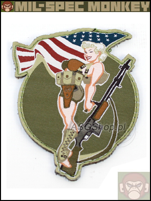 Oryginal Mil-Spec Monkey Morale Patch - BAR Girl Full Color